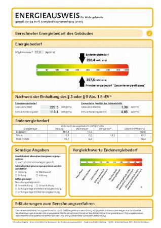 Energieausweis - Formular